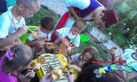 Мастер-класс на детском празднике.