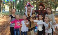 Ковбойские скачки на празднике. Николаев