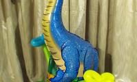 Шар - динозавр. Высота 1 метр. Фольга, гелий/воздух. Цена 100 грн.