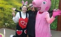 Мис Кролик и Свинка Пеппа. Заказать аниматора в Херсоне.