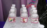 Именные этикетки для минеральной воды