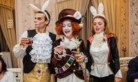 Заказать аниматора. Шляпник, Белый кролик и Мартовский заяц. Неугомонная - тройка, перевернёт праздник с ног на голову!