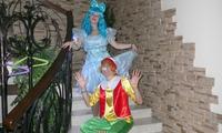 Мальвина и Буратино на детском празднике