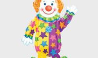 """Ходячая фигура """"Клоун""""   Размер фольги: Высота 111 см. Полет с гелием: 2 недели Цена: 220 грн."""
