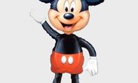 """Ходячая фигура """"Микки Маус""""   Размер Фольга: Высота 132 см. Полет с гелием: 2 недели.  Цена: 240 грн."""