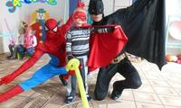 Бетмен и Спайдермен на детском дне рождения